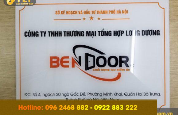 Địa chỉ làm biển công ty mica giá rẻ, uy tín tại Hà Nội