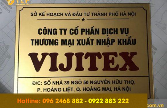 29 mẫu biển công ty alu ấn tượng và giá rẻ nhất tại Hà Nội