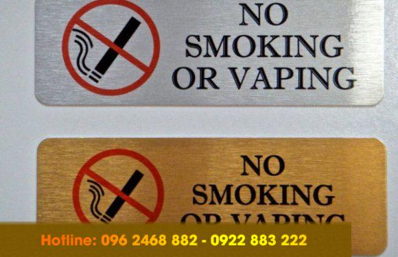 Tổng hợp những mẫu biển cẩm hút thuốc, no smoking ấn tượng